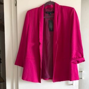 Hot pink lined jacket